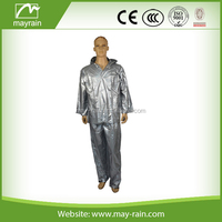 Adult rainwear/ two-piece PVC working suit