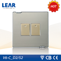 Multifunctional two gang one way switch