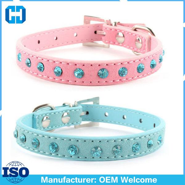 Factory-Price-Small-Pet-Dog-Velvet-PU-Leather-Collar-Puppy-Cat-Crystal-Rhinestone-Neck-Strap (4)