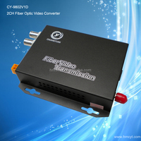 2Channel Analog to Fiber Converter for security cameras CY-9802V1D