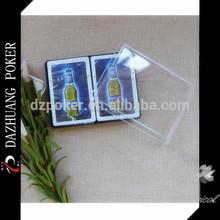 barbican de bebidas de malta de doble cubierta de plástico de publicidad de poker tarjetas para el mercado de arabia