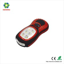 Factory supply 6 SMD+3 LED outdoor high power super bright led work light with magnet and hook