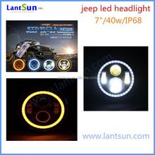 hot sale 7inch 40w LED headlight for Jeep wrangler Hi/lo beam IP68