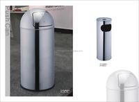Famous home fashions simplicity polish round shape garbage trash bin