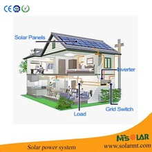 10KW Solar power system for home with on grid inverter