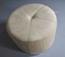 hot selling living room fabric wholesale low round sofa stools
