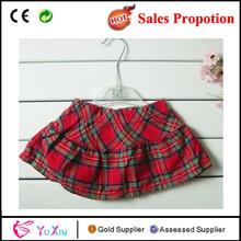 estilo escocés de puro algodón a cuadros falda para las niñas y