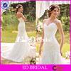 ST129 Alibaba 2015 Sleeveless Appliqued White Colored New Wedding Dress