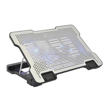 Adjustable height Notebook cooling pad with 2 fans and 2 USB ports