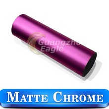 1.52x20m Matte Chrome Matte Pink Car Vinyl Wrap