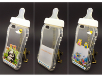 3D Hot Transparent Cartoon Baby Nipple Milk Bottle Crystal PC Phone Case for iPhone 5/5S /6 /6Plus