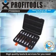 "18pcs 1/4""&1/2"" high quality complete tool box set"