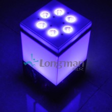9pcs 14w RGBAWUV dmx UL battery powered beam lighting disco