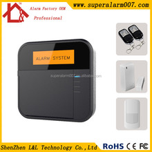 Excellent LCD Keypad Wireless home Alarm support Italy with auto arm or disarm X6
