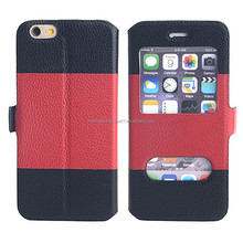 Flip Wallet Leather custom cases for phones, phone cases and covers for iphone6, cellphone case wholesale for iphone6