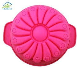 Thick 9 inch silicone oven microwave flower cake model