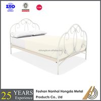 double size white round bed