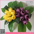 Decoración de flores de tulipán artificial, ramo de flores artificiales al por mayor