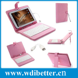"""Leather case with usb keyboard bracket for 7"""" inch tablet PC android 4.0 2.3 Tablet Netbook"""