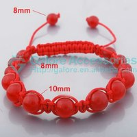 wholesale hot red string shamballa bracelet