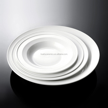 2015 new hotel porcelain round deep dinner plate for wholesale, Elegant white porcelain soup plate 8inch~12inch