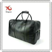 Folded leather travel bag for men
