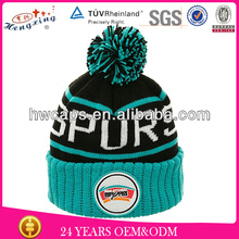 You own personal design small order accepted custom fur pom pom beanie