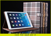 commerce style For IPad Air 2 Leather Case , For PU Table Cover IPad Air 2 , For IPad Air 2 Shockproof Case
