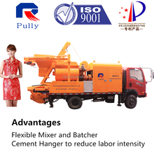 China Made Truck Mounted Concrete Mixer Small Pump For Sale
