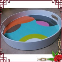 Custom round melamine serving tray for promotion