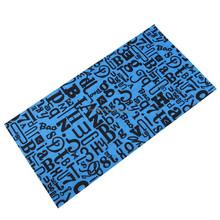 Dye sublimation microfiber print bandana for seamless bandana