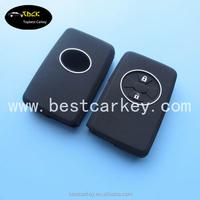 Rubber silicon car key protection cover for 2 button Carolla Yaris Reiz toyota remote key case