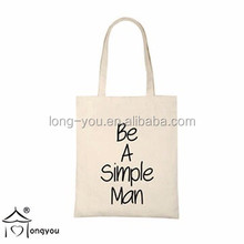 OEM production canvas tote bag custom canvas shopping bag
