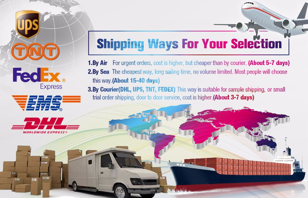 Shipping Ways For Your Selection
