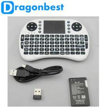 2015 hot selling Rii i8 mini fly mouse Rii i8 wireless mini keyboard 2.4G Wireless with Touchpad Mini Polish English Keyboard