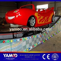 New Amusement Track Rides Rotating Speed Rides Mini Flying Car / Electric Rally Car for teenagers