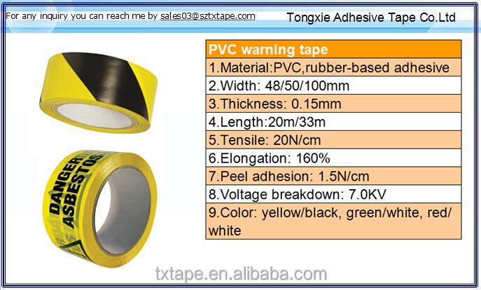 Non-adhesive warning tape hazard tape