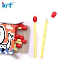 unique design matchstick shaped short ballpoint pen