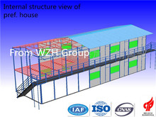economic prefabricated steel frame with light gauge steel