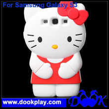 For Samsung Galaxy S3 3D Hello Kitty KT Silicon Cover