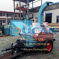 High Quality movable wood chipper/diesel wood chipper