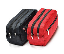 Women & men excellent quality nylon wash bag cosmetic purse travel bags case organizer for make up