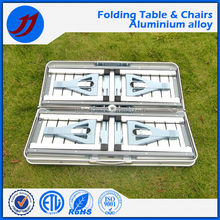 Outdoor aluminum alloy portable picnic folding table and chairs