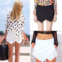 New Women's girls Geometric Style Pure Color Short Pants Casual Shorts 2 Colors
