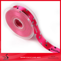 Sinicline factory custom quality colorful double-sided polyester elastic satin ribbon