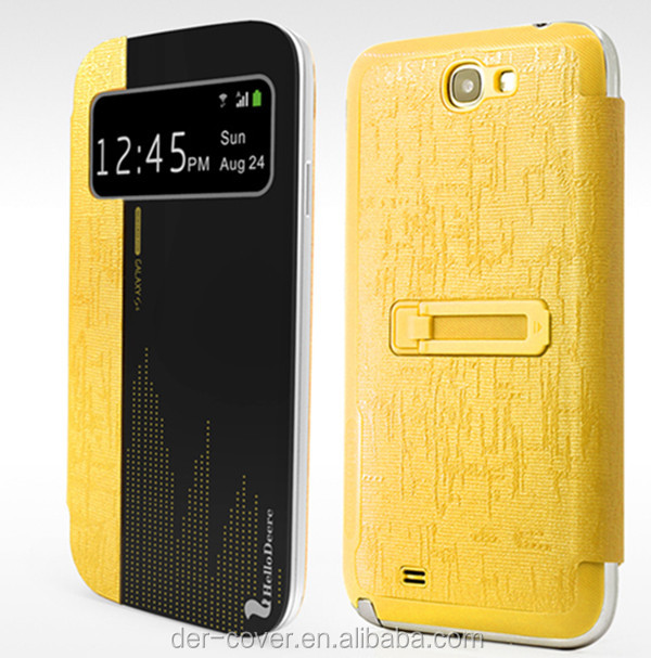 New 2014 product Hellodeere brand provide mirror PU Leather Case for Samsung Note2/N7100/S5/S4