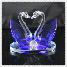 Allure Diamond Crystal Blue Twins Swan for New Year's Decoration