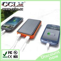 2015 high capacity dual USB 20000mah universal waterproof solar power bank for all mobile phone