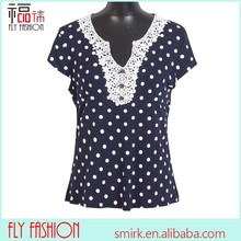 F91# online boutiques lady's tops and blouses dot clothes with beaded for women