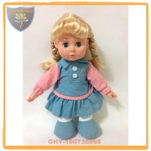 Guanghongyi plastic toys factory muñeca de trapo 14 pulgadas